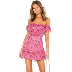 Pink Majorelle Mini Dress